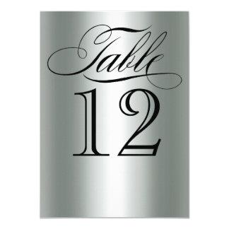 Cartão Encanto metálico de prata elegante Bling do número