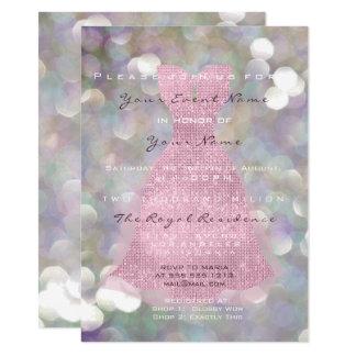 Cartão Encanto nupcial da hortelã cinzenta violeta