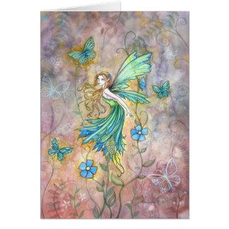 Cartão Enchanted da fada do jardim