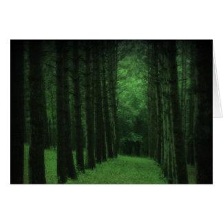 Cartão Enchanted da floresta