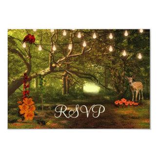 Cartão Enchanted da luz RSVP da corda do conto de