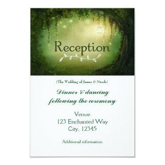 Cartão Enchanted da recepção de casamento de
