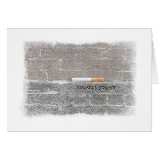 Cartão Encontrando a força para parar fumar o incentivo