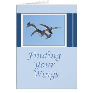 Cartão Encontrando suas asas