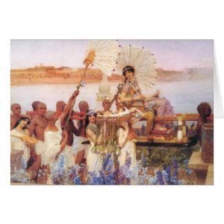 Cartão Encontrar de Moses, senhor Lawrence Alma-Tadema