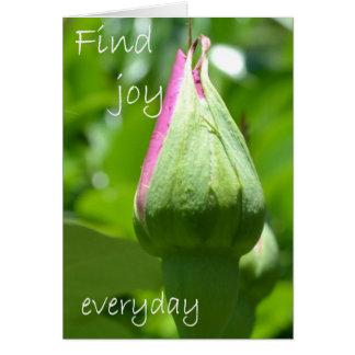 Cartão Encontre a alegria diária