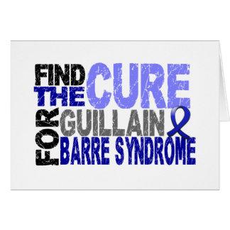 Cartão Encontre a síndrome da barra de Guillain da cura