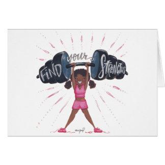 Cartão encontre seu fundo do strengths_no