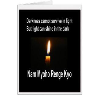 Cartão encorajador budista do SGI - luz na