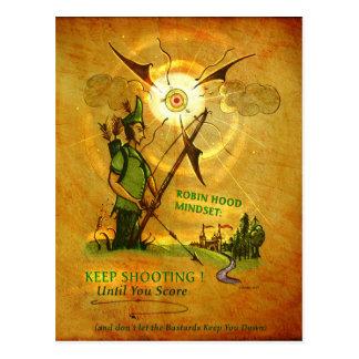 Cartão encorajador de Robin Hood