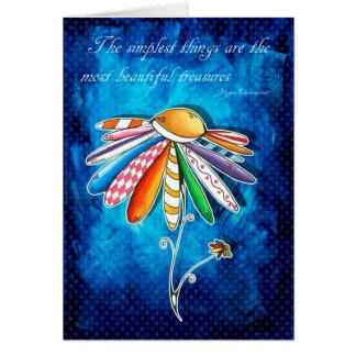 Cartão encorajador Uplifting inspirado da