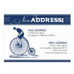 CARTÃO: Endereço novo! Bicicleta antiga (marinho) Cartao Postal