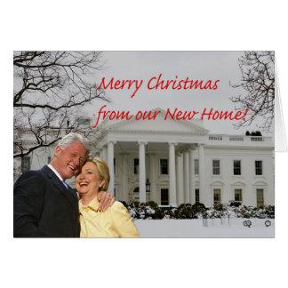 Cartão Endereço novo de Hillary & de Bill