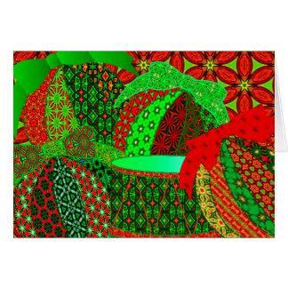 Cartão Enfeites de natal da chita