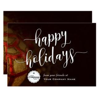 Cartão Enfeites de natal, incorporados boas festas