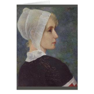 Cartão Enfermeira da cruz vermelha por Theodor Grust