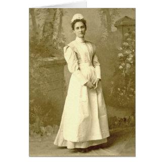 Cartão Enfermeira Notecard do vintage