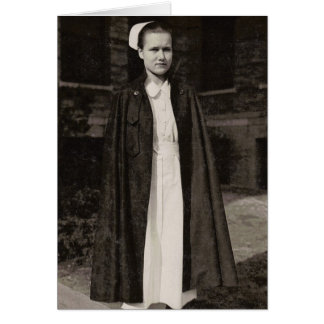 Cartão Enfermeira retro dos anos 30