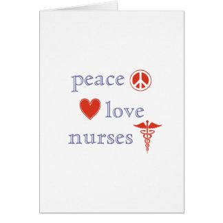 Cartão Enfermeiras do amor da paz