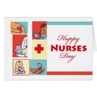 Cartão Enfermeiras felizes dia, enfermeiras e seus