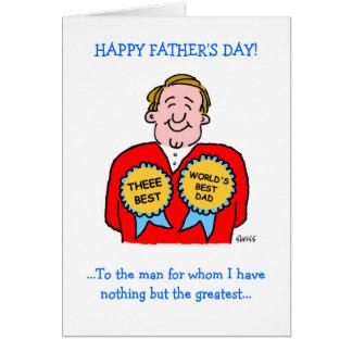 Cartão engraçado bonito do dia dos pais