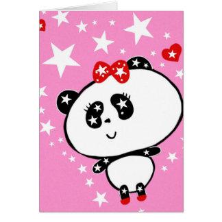 Cartão Engraçado bonito dos ursos de panda personalizado