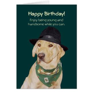 Cartão engraçado customizável do cão/laboratório p