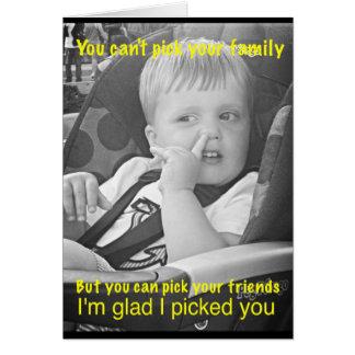Cartão engraçado da amizade