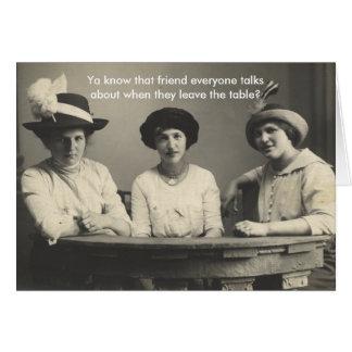 Cartão engraçado da Anti-Amizade