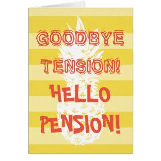 Cartão engraçado da aposentadoria com para os
