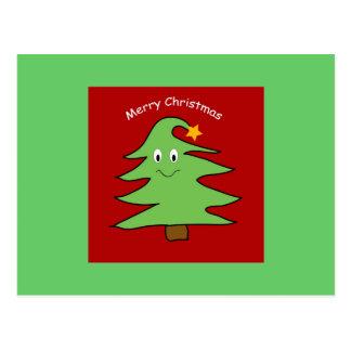Cartão engraçado da árvore de Natal Cartão Postal