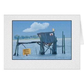 Cartão engraçado da barraca do beira-rio
