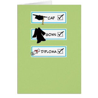Cartão engraçado da graduação: Cérebro grande