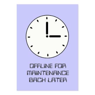 Cartão engraçado da manutenção programada de face  cartões de visita