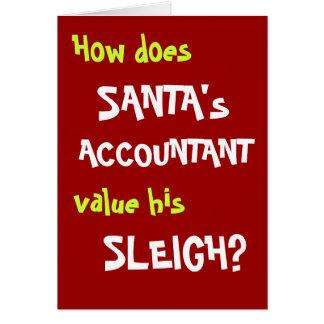 Cartão engraçado da piada do Natal para o contador
