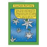 Cartão engraçado de Boot Camp do floco de neve