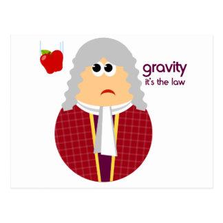 Cartão engraçado de Isaac Newton