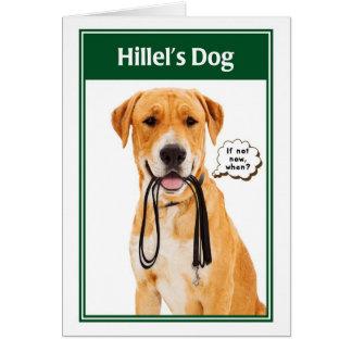 Cartão engraçado de Mitzvah do bar do cão de