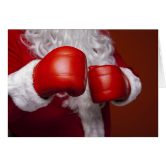 Cartão engraçado de Papai Noel do encaixotamento