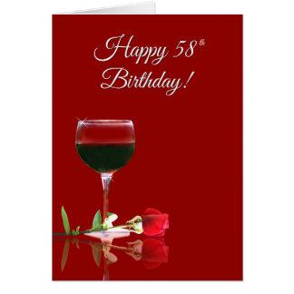 Cartão engraçado do 58th aniversário feliz dos