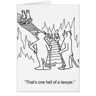 Cartão engraçado do advogado