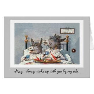 Cartão engraçado do aniversário dos animais do