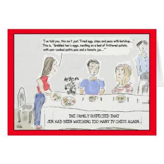 Cartão Cartão engraçado do aniversário dos desenhos