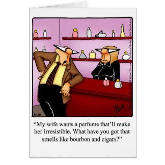 Cartão engraçado do aniversário para a esposa