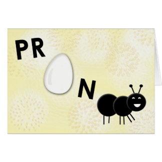 Cartão engraçado do anúncio da gravidez - grávido