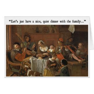 Cartão engraçado do comensal da família