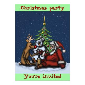 Cartão engraçado do convite da arte dos desenhos convite 12.7 x 17.78cm