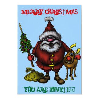 Cartão engraçado do convite do Natal