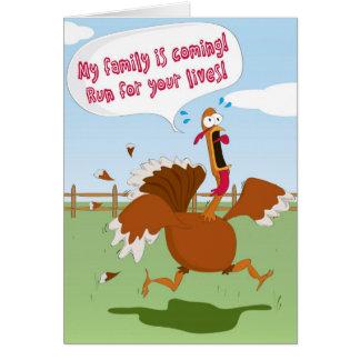 Cartão engraçado do dia da acção de graças