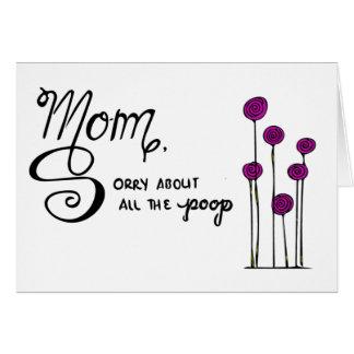Cartão engraçado do dia das mães
